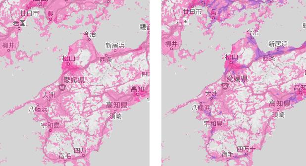 今後の愛媛県の電波状況