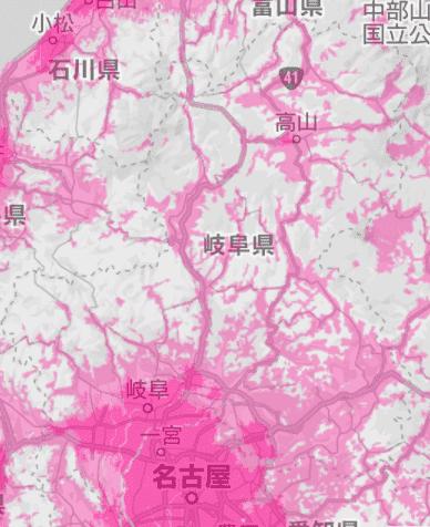 岐阜県の電波状況
