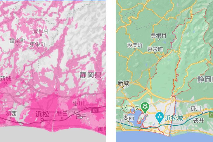 浜松市の電波状況