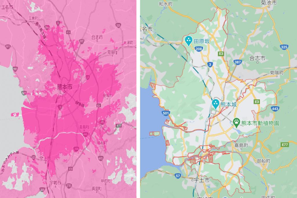 熊本市の電波状況