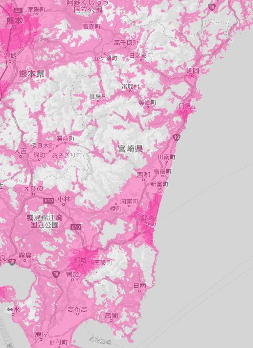 宮崎県の電波状況