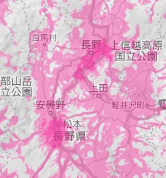 長野県の電波状況