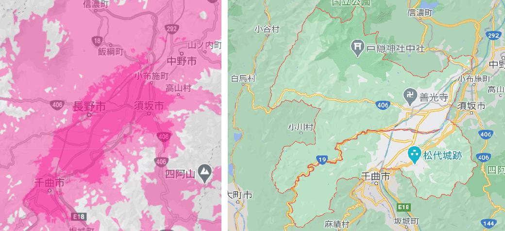 長野市の電波状況