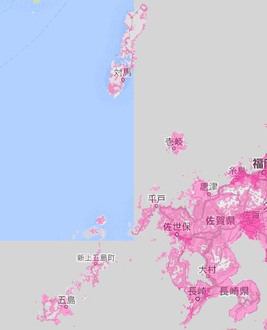 長崎県の電波状況