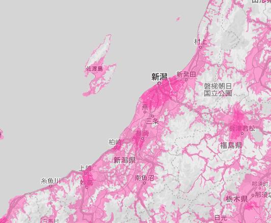 新潟県の電波状況