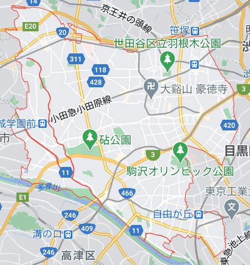 世田谷区の電波状況