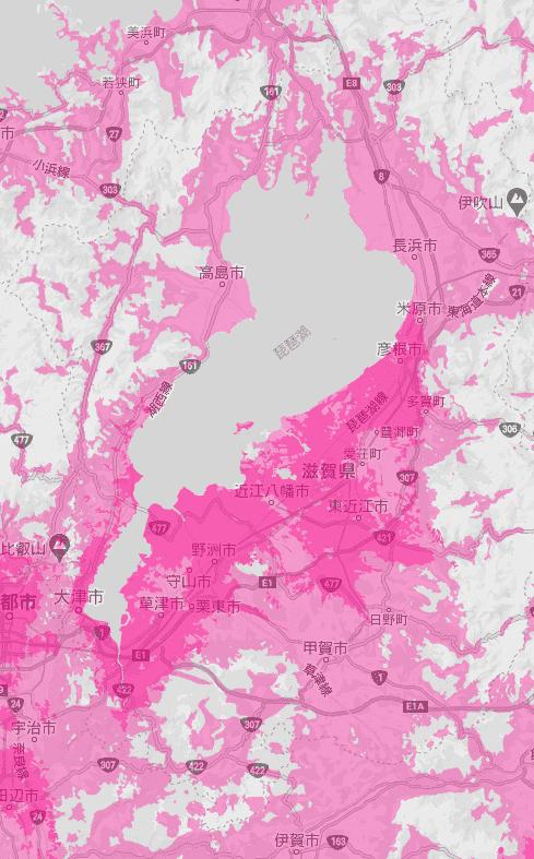 滋賀県の電波状況