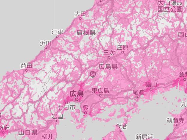 広島県の電波状況