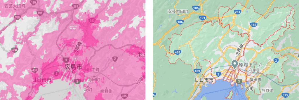 広島市の電波状況