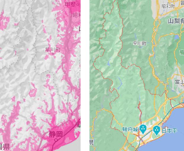 静岡市の電波状況