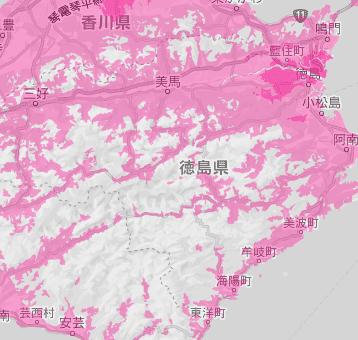 徳島県の電波状況