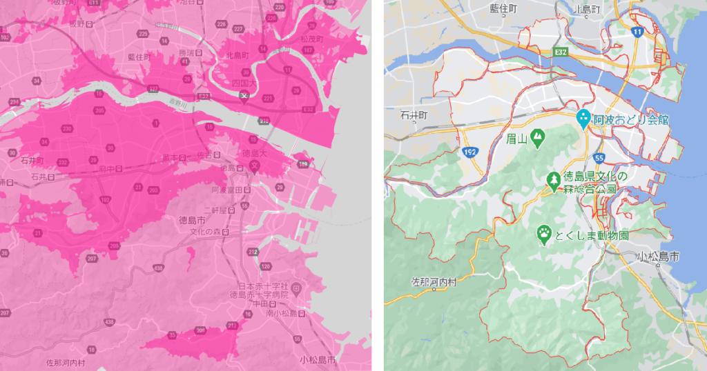 徳島市の電波状況