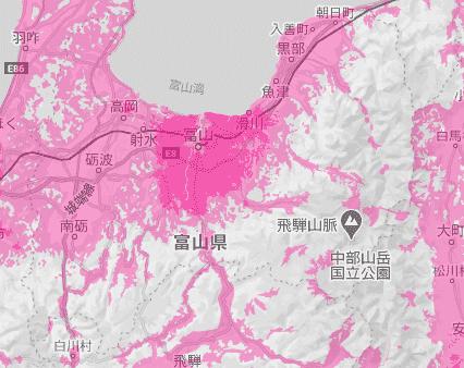 富山県の電波状況