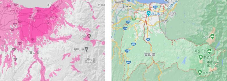 富山市の電波状況
